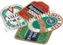 Paper labels for beer bottles